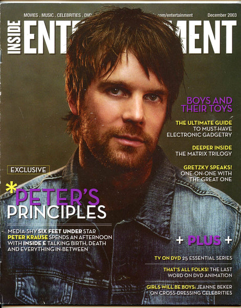 PETER KRAUSE Six Feet Under 2003 Inside Entertainment Magazine Wayne Gretzky