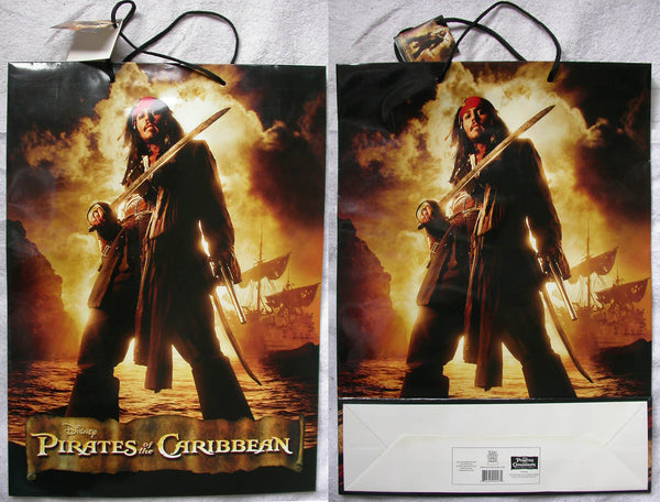 JOHNNY DEPP Pirates of the Caribbean HUGE SHOPPING BAG Dead Man's Chest