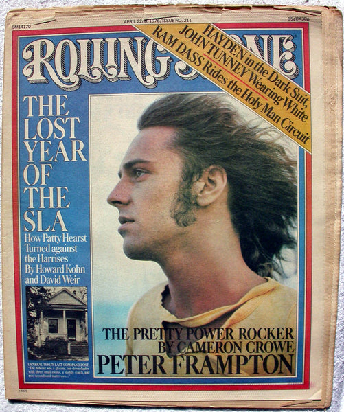 PETER FRAMPTON 1976 Rolling Stone Magazine RS 211 RAM DASS Patty Hearst