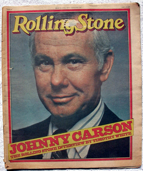 JOHNNY CARSON 1979 Rolling Stone Magazine RS 287 LOU REED George Thorogood