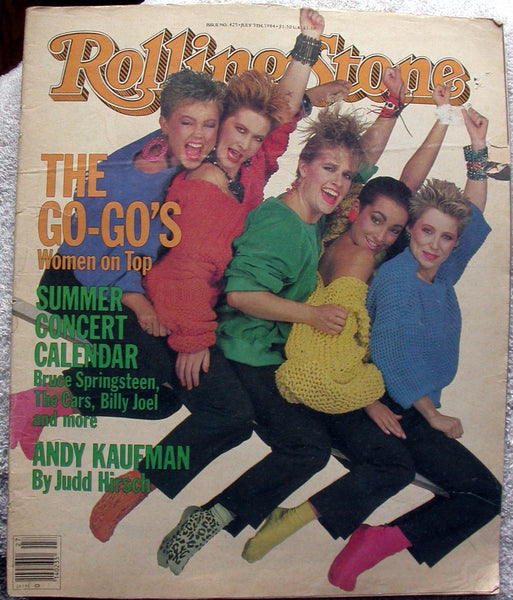 THE GO-GO's 1984 Rolling Stone Magazine 425 SCORPIONS Andy Kaufman GARY HART