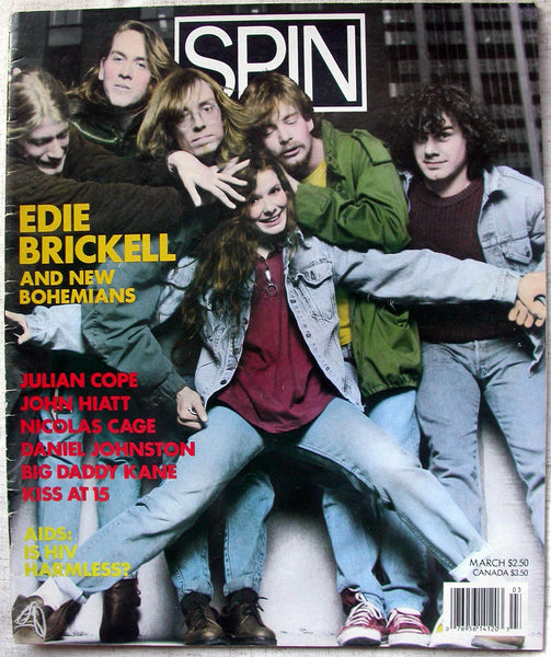 EDIE BRICKELL and New Bohemians March 1989 SPIN Magazine Daniel Johnston