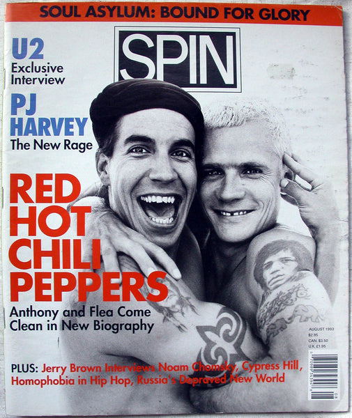 RED HOT CHILI PEPPERS August 1993 Spin Magazine PJ Harvey U2