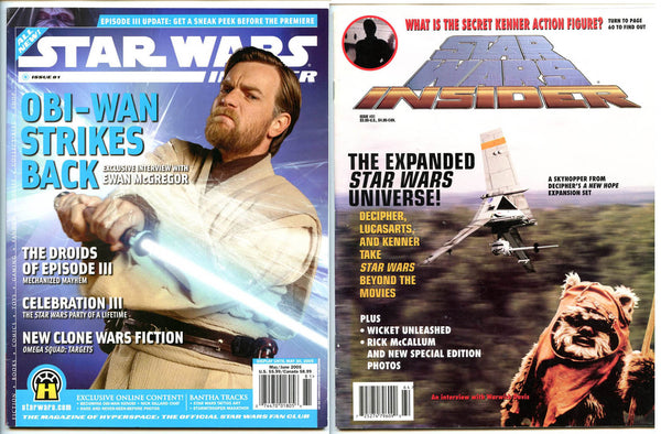 Star Wars Lot 2 Magazines: Star Wars Insider Magazine Issue 31 + 81 Ewan McGregor