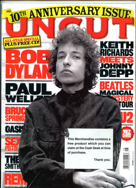 BOB DYLAN August 2007 UNCUT Magazine 123 10th Anniversary
