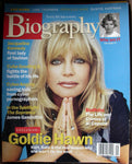 GOLDIE HAWN May 2001 A&E Biography Magazine Jacqueline Kennedy Cuba Gooding
