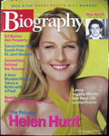 HELEN HUNT August 2001 A&E Biography Magazine Ed Burns Schweitzer Wilder Danny DeVito