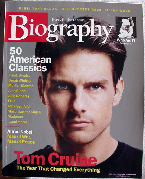TOM CRUISE December 2001 A&E Biography Magazine Elijah Wppd Tony Danza Sinatra