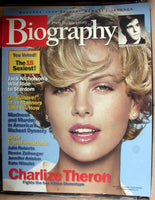 CHARLIZE THERON November 2002 A&E Biography Magazine Jack Nicholson Madonna