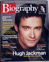 HUGH JACKMAN May 2003 A&E Biography Magazine Gretchen Mol Paula Abdul