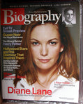 DIANE LANE September 2003 A&E Biography Magazine Queen Noor Edgar Hoover FBI