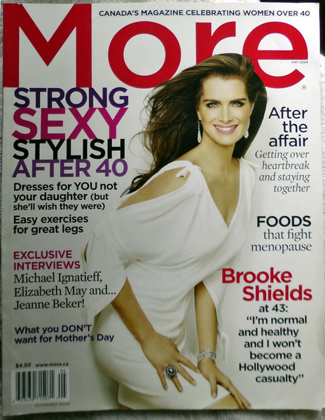 BROOKE SHIELDS Pretty Baby 2009 Canadian MORE Magazine for Women over 40