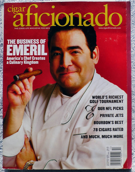 EMERIL LAGASSE October 2005 Cigar Aficionado Magazine Camacho