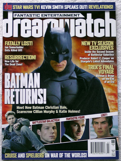 CHRISTIAN BALE Batman Dreamwatch Magazine 9