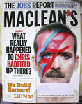 Chris Hadfield Astronaut 2013 Maclean's Magazine