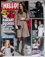 KATE MIDDLETON HELLO Canada Magazine 252 KRISTIN DAVIS Whitney Houston ANISTON