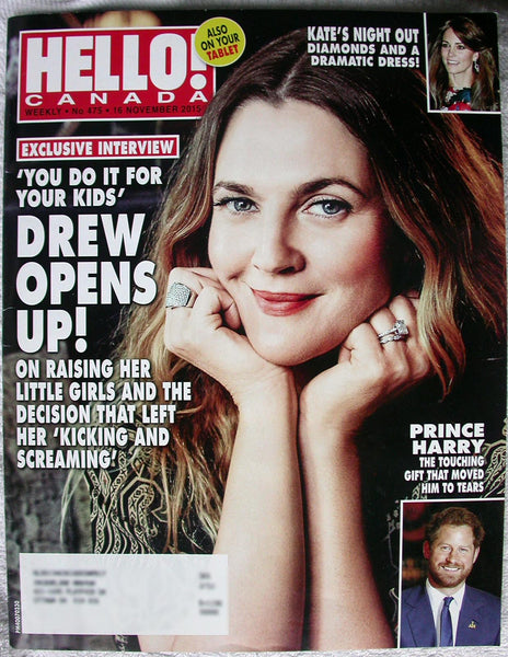Drew Barrymore Santa Clarita Diet 2015 Hello Canada Magazine 475 Kate Middleton