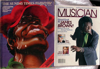 James Brown Lot 2: 1971 Sunday Times + April 1986 Musician Magazine