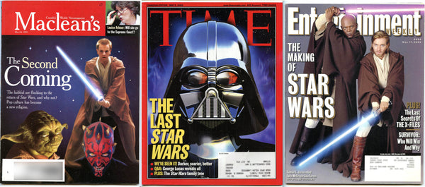 Star Wars Lot 3: Maclean's Magazine + Time Magazine + Entertainment Weekly 654
