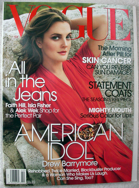 DREW BARRYMORE February 2006 Vogue Magazine FAITH HILL Isla Fisher MARIO TESTINO