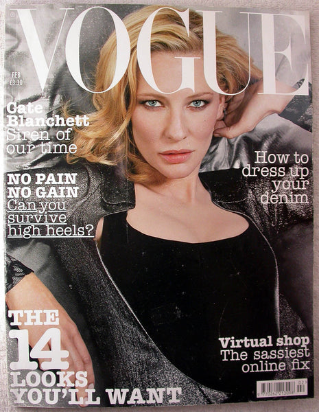 CATE BLANCHETT 2004 British UK VOGUE Magazine DARIA Galliano MOSS Paul Bettany