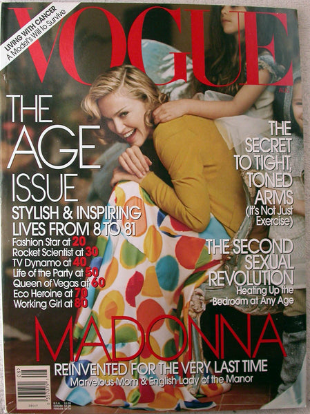 MADONNA at Home August 2005 Vogue Magazine The Age Issue JANE GOODALL