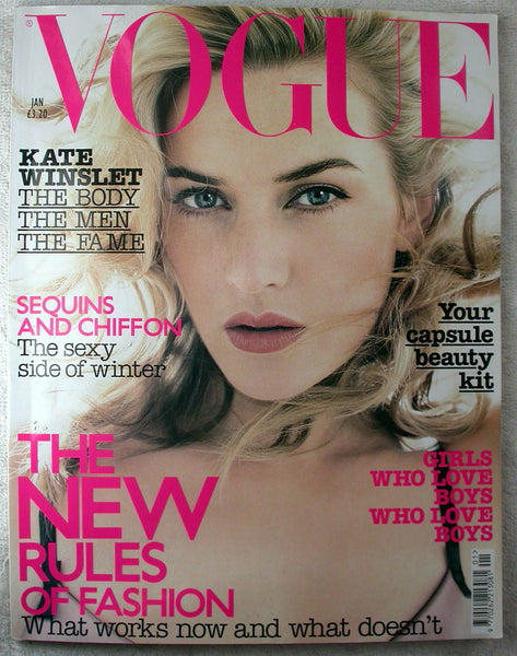 KATE WINSLET Jennifer Lopez January 2003 British VOGUE Magazine DAVE STEWART
