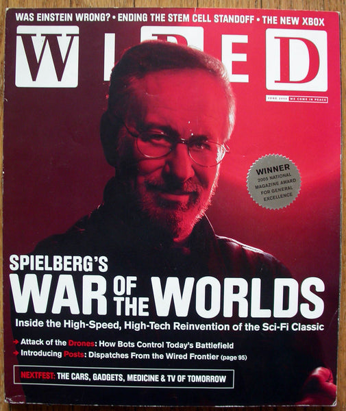 Steven Spielberg June 2005 WIRED Magazine XBOX Einstein