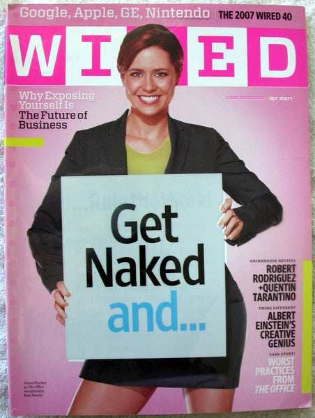 JENNA FISCHER The Office April 2007 WIRED Magazine Quentin Tarantino Einstein