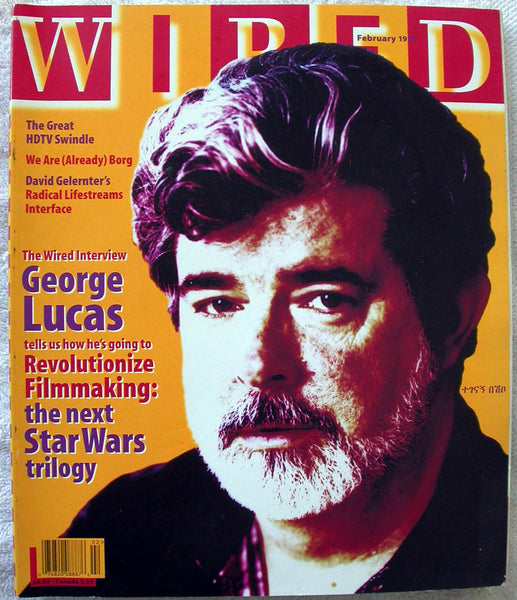 GEORGE LUCAS Star Wars 1997 WIRED Magazine
