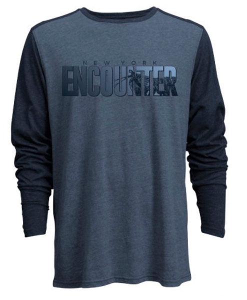 Long Sleeve Raglan Encounter Shirt Marine Blue