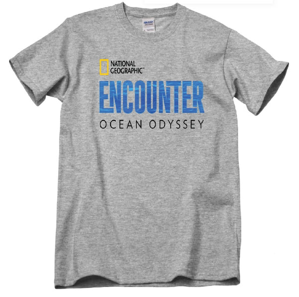 Short Sleeve National Geographic Encounter Logo T-Shirt Grey