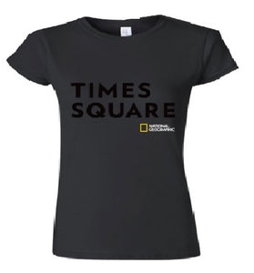 Ladies Cut New York Bold T-Shirt Black