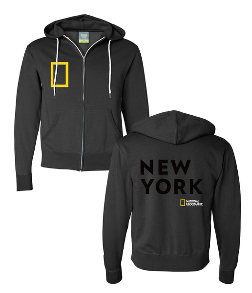 Zip Hood New York Bold Sweatshirt Black