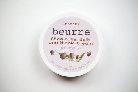 Beurre Shea Butter Belly & Nipple Cream for Expectant Moms - Béni