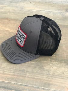 Black Patch Trucker Hat
