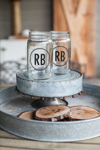 Red Barn Mason Jar Glass Cup