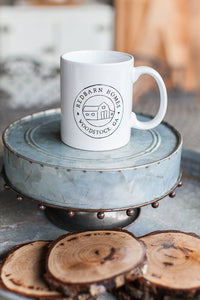 White Red Barn Cafe Mug