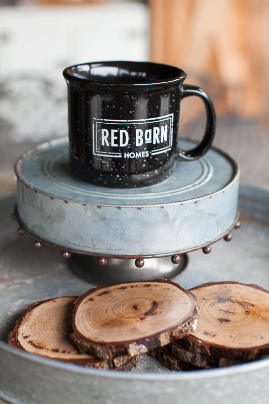 Black Red Barn Campfire Mug