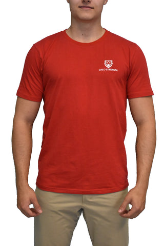 Premium Short Sleeve Badge - Red