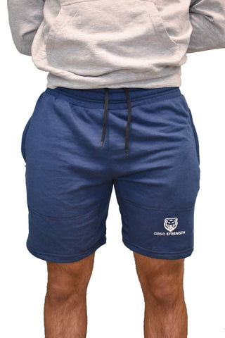 Premium Badge Shorts - Blue