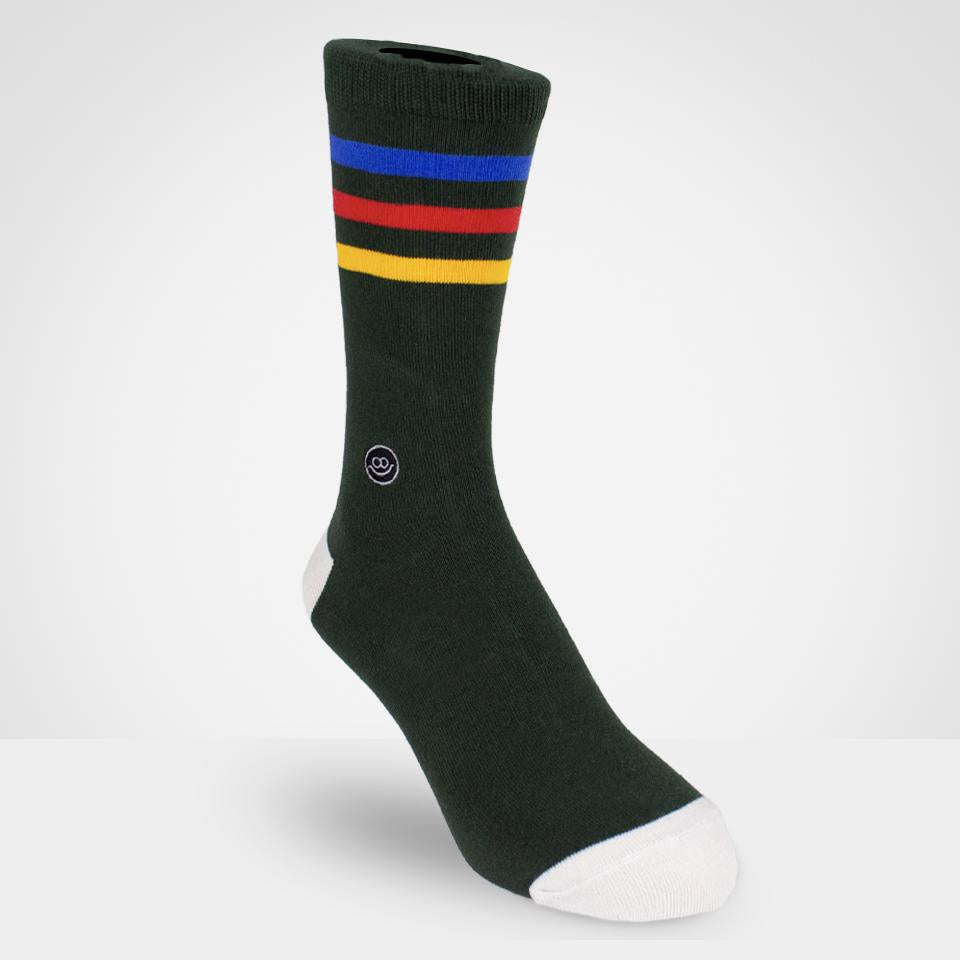 Crew sock - Rasta Stripe