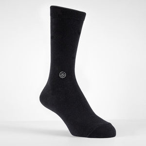 All Black Crew Socks