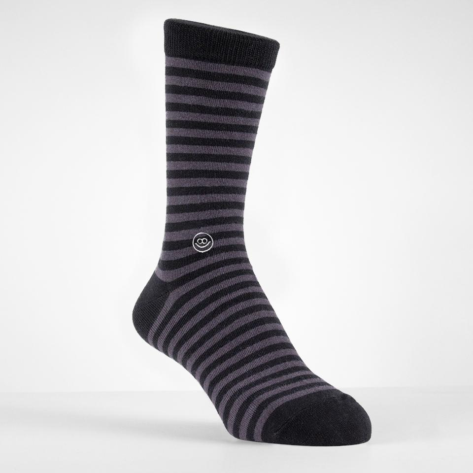 Crew sock - Black Stripe