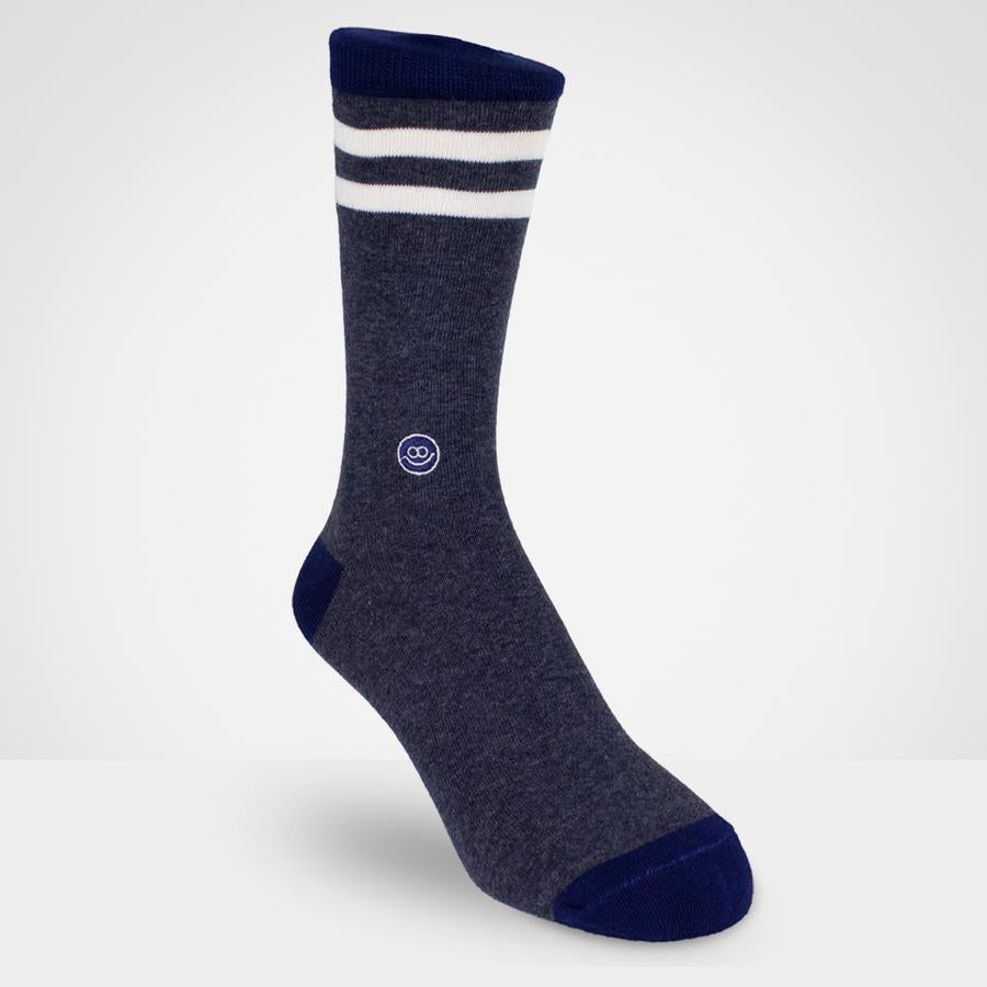Crew sock - Navy Mixt