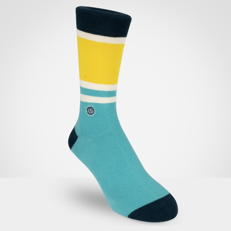 Crew sock - Solid Summer Stripe