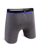 Feel Solid Charcoal & Blue Boxer Brief