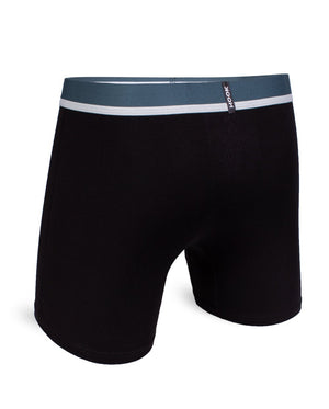Feel Solid black & Teal Boxer Brief