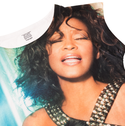 Whitney Houston Sublimated Babydoll T-Shirt
