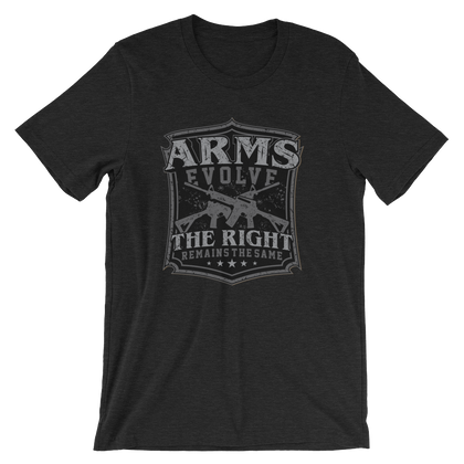 Arms Evolve Shield T-Shirt - Silver